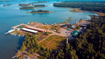 Isnäs satama-alue Loviisa